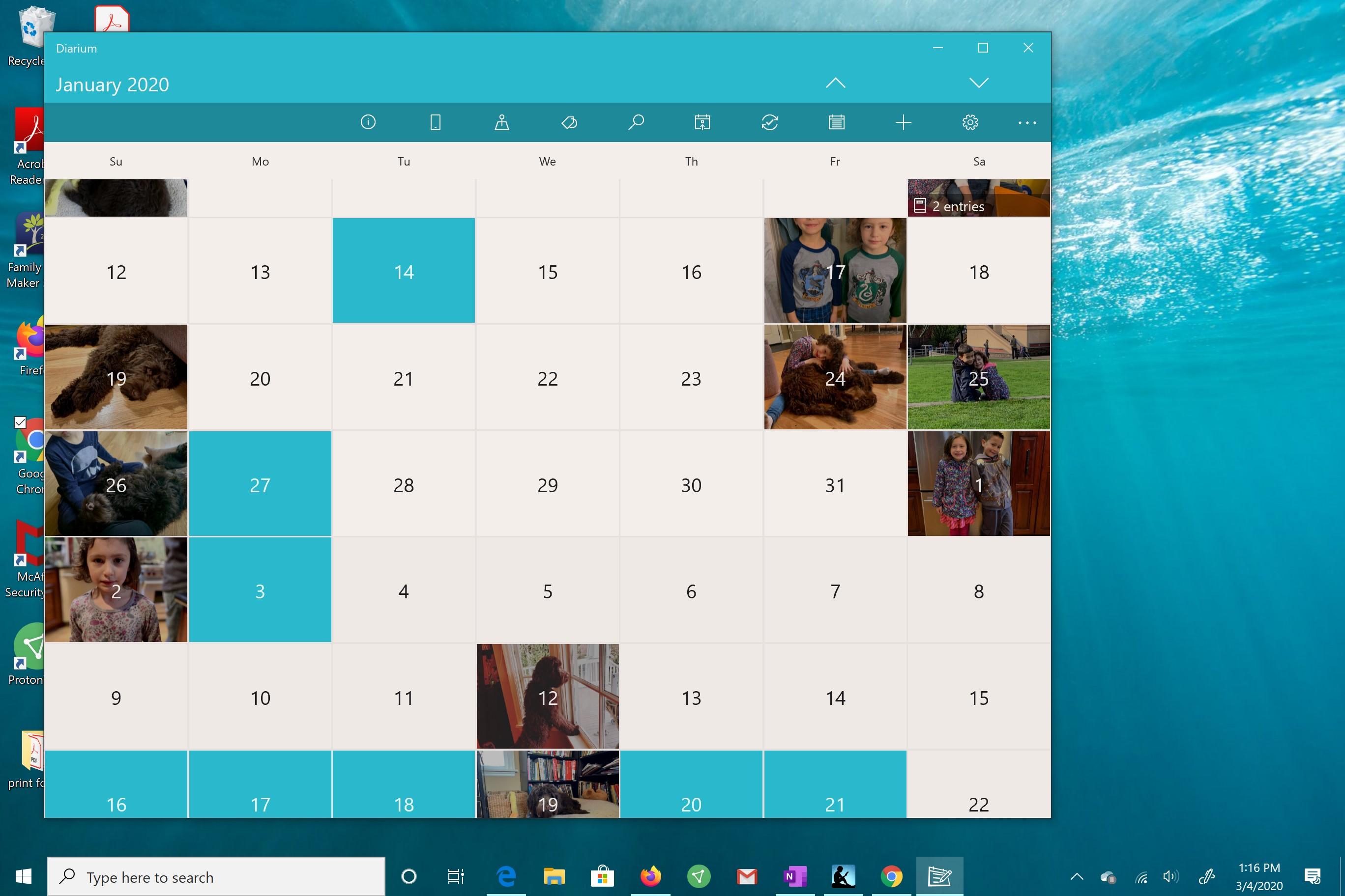diarum calendar view